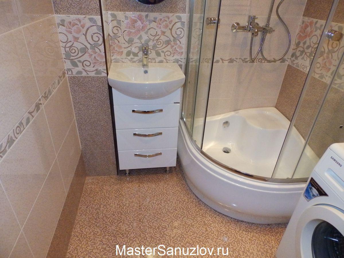 Один из вариантов ремонта ванной комнаты