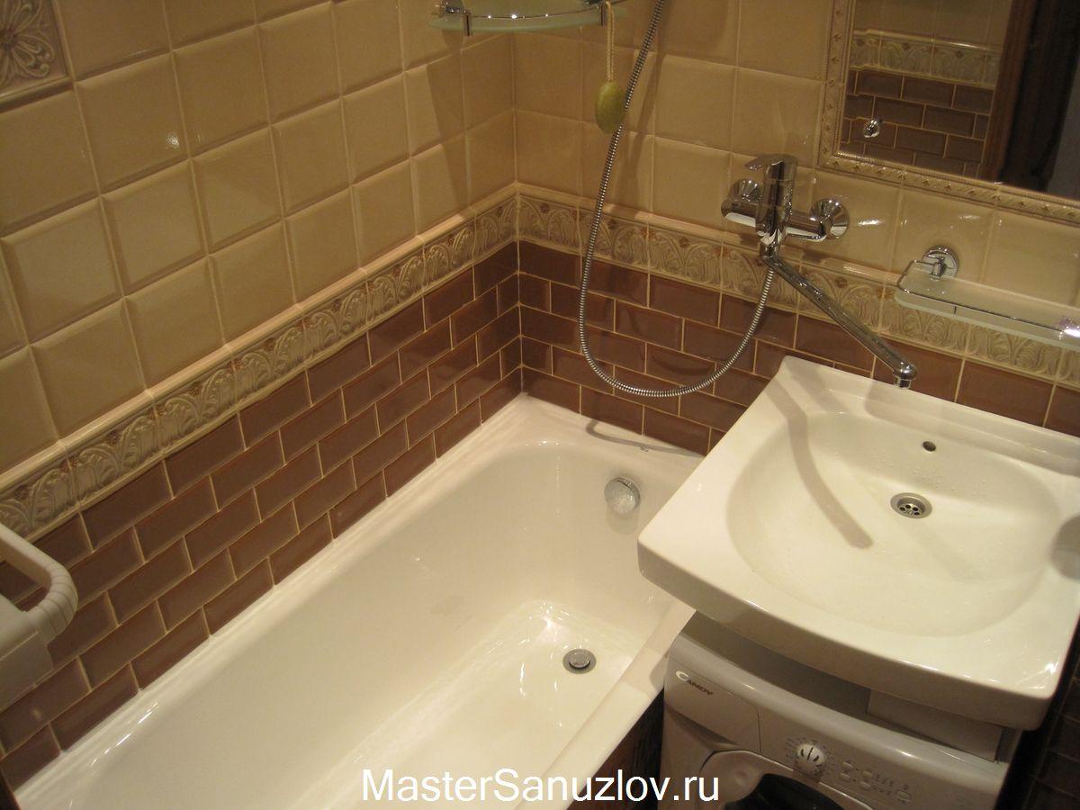 Отделка ванной комнаты без использования кафеля