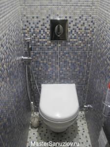 отделка туалетной комнаты панелями
