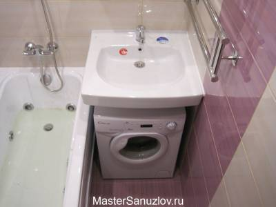 компактное размещение стиральной машины