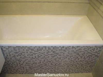 оформление экрана под ванну кафельной плиткой