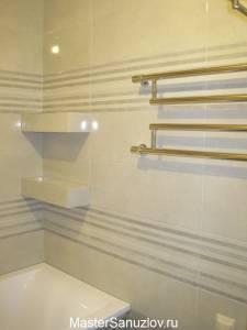 подсветка полок в ванной