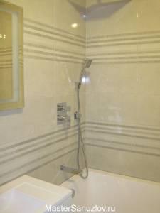 неброский дизайн ванной комнаты