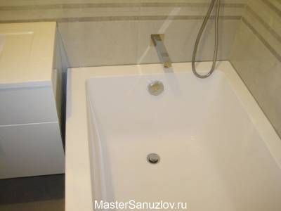 Встраиваемый смеситель в ванной