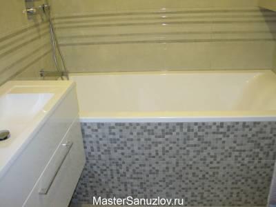 Плитка под мозаику для экрана ванной