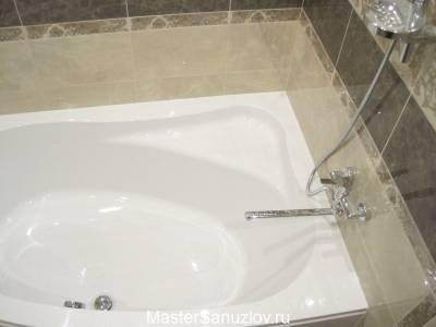 Удобная ванна белого цвета