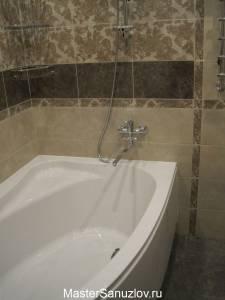 Фотография интересного дизайнерского решения в ванной комнате