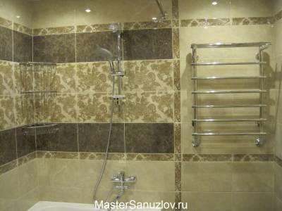 Фотография интересного дизайнерского решения в ванной
