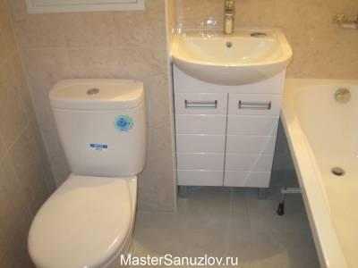 Фотография дизайна ванной комнаты в бежевых оттенках