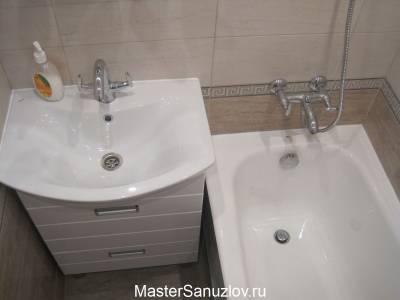 Фотография дизайна ванной в бежевых оттенках