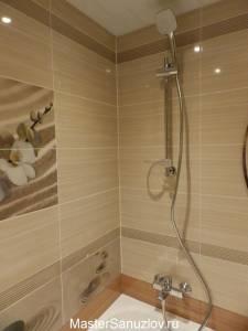 йн ванной комнаты в песочном цвете