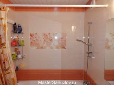 Ванная комната в апельсиновом цвете