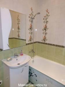 Плитка с изображением бамбука в ванной комате
