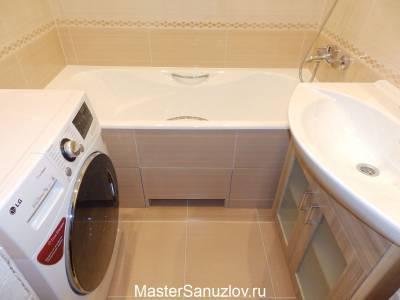 Фото ванной в кремовом цвете