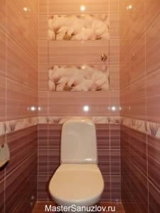 Туалетная комната в пудровых цветах