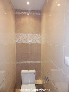 Туалетная коммната в цвете беж