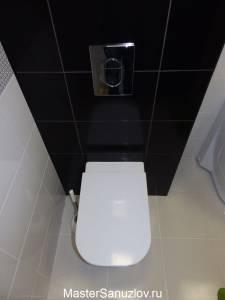 Туалет в жемчужно-угольном цвете