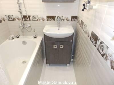 Серый цвет в  оформлении ванной комнаты