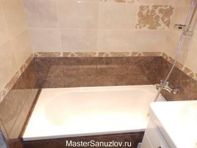 Дизайн ванной в терракотовом цвете