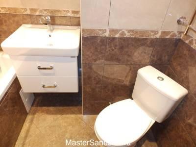 Ванная комната в кофейном цвете