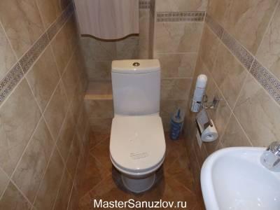 Неброский дизайн туалета