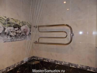 полотенцесушитель водяной из нержавеющей стали с боковым подключением