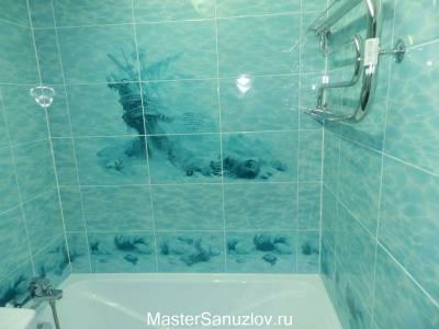 Морской дизайн ванной