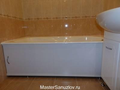 Белый экран под ванну