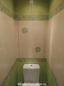 Дизайн туалета в лаймовом цвете