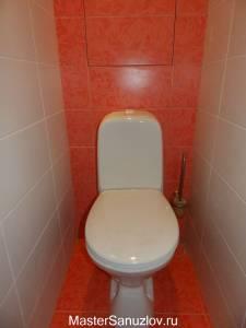 Оранжевый цвет в дизайне санузла
