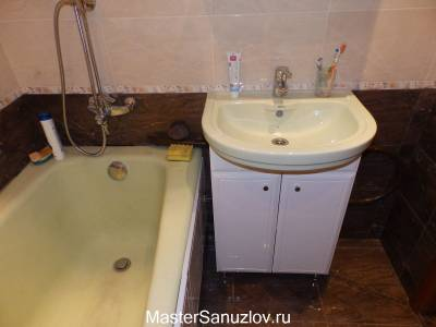 Реальное фото ванной комнаты