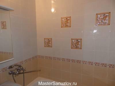 Акцентная плитка в ванной комнате