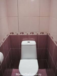 Реальное фото туалетной комнаты