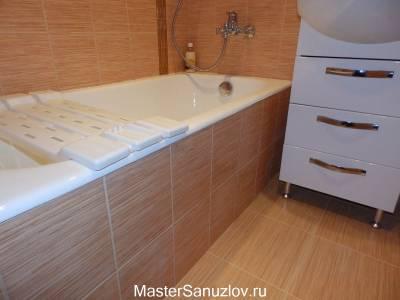 Бежевый дизайн ванной