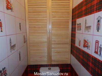 Британский дизайн туалетной комнаты