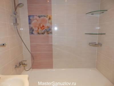Фотоплитка с цветами в ванную комнату