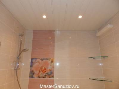 Фотоплитка с цветами в ванную