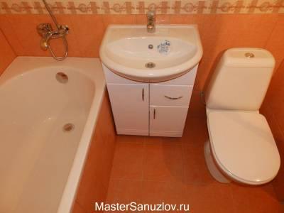 Теплый дизайн ванной