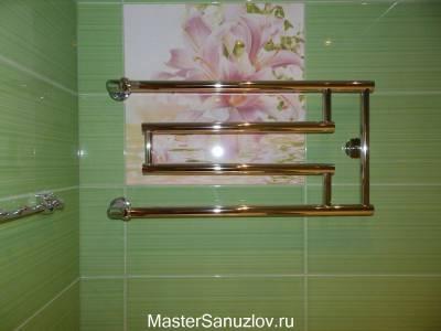 Полотенцесушитель в дизайне ванной