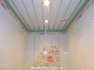 Инересный потолок в санузле