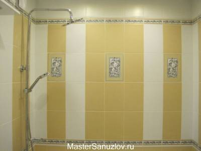 Акценты из плитки для ванной