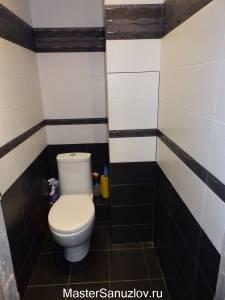 Черно-белый дизайн туалета