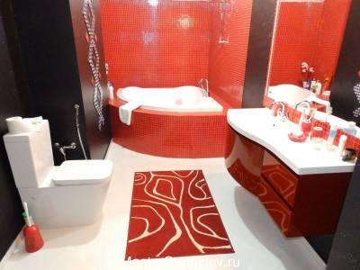 Оранжевый дизайн ванной комнаты