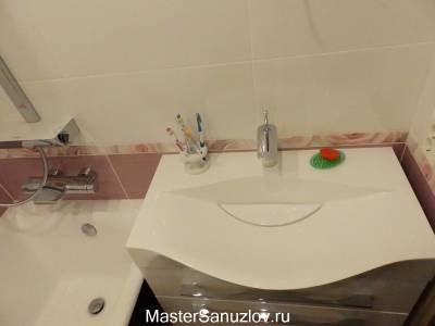 Оригинальная форма раковины в ванной