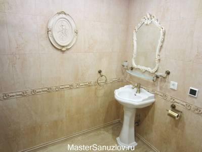 Нежный дизайн ванной