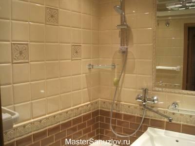 Плитка с объемным узором для стен ванной
