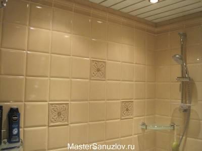 Плитка с объемным узором для стен санузла
