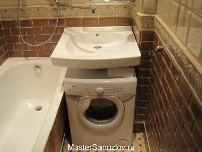 Удобное расположение стиральной машины