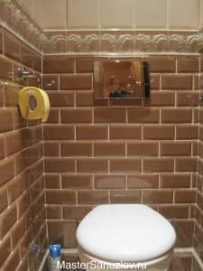 Объемный бордюр для туалета