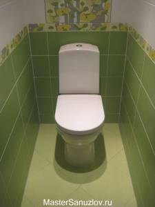Зеленый цвет в оформлении туалета